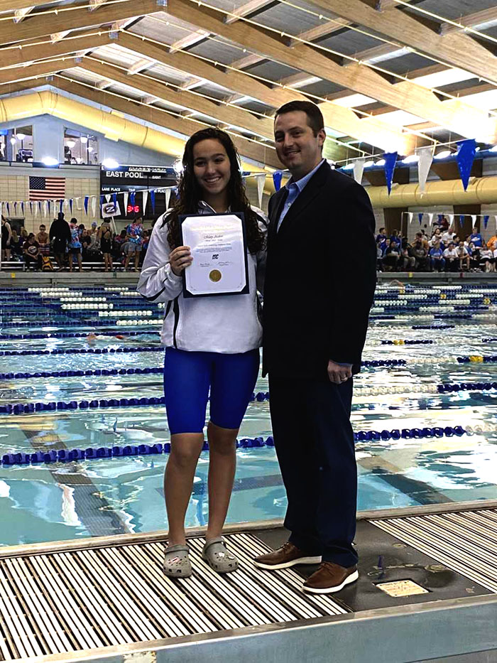 Mary Ardoin- Academic All-State Swimming