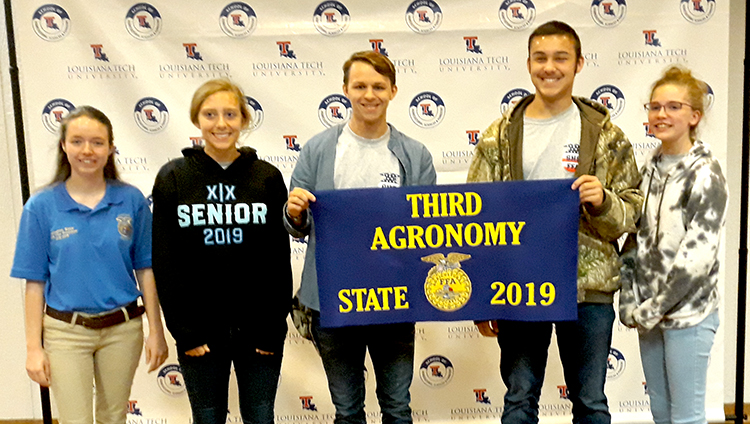 FFA Agronomy team 3rd at state Agronomy CDE: They ID common crops, weeds, insects, disorders and soil properties.