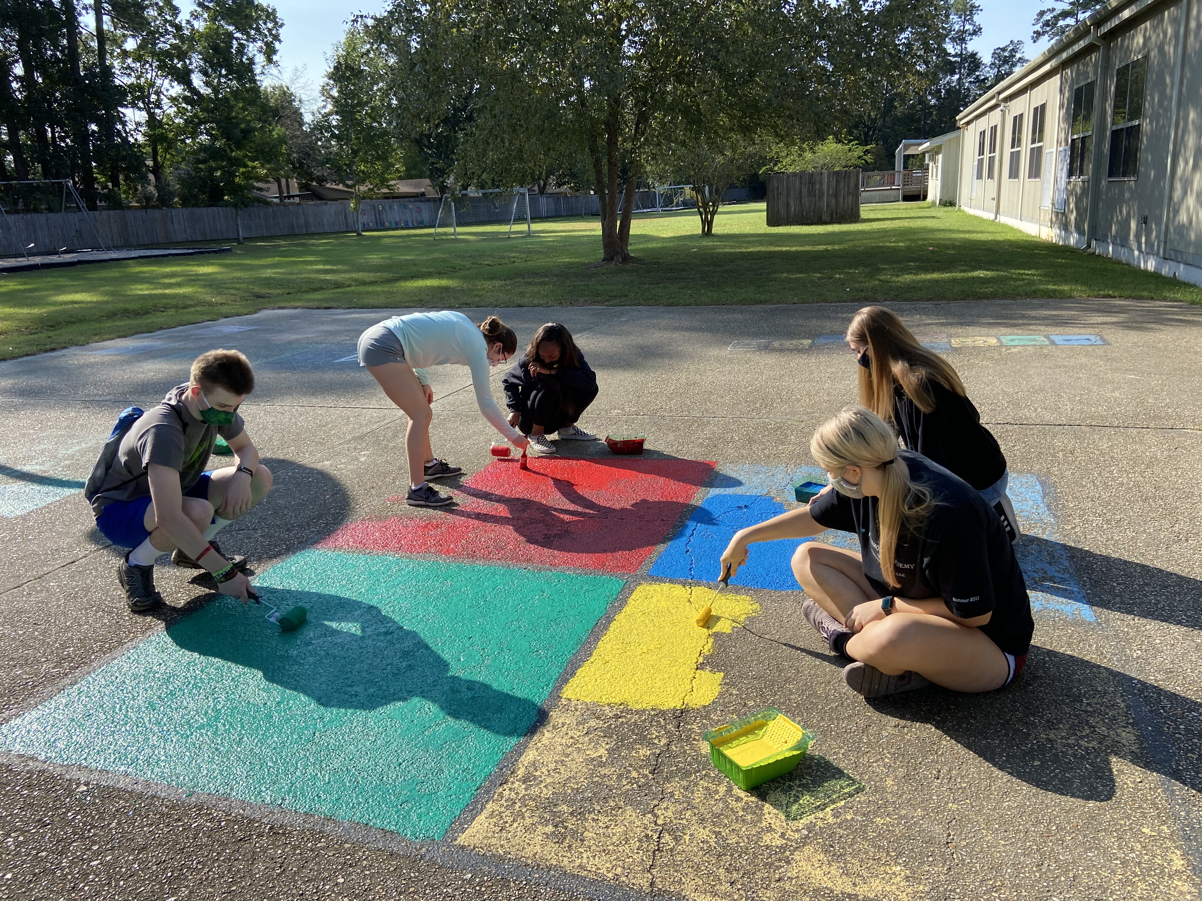 SHS National Honor Society provides community service at Bonne Ecole Elementary